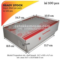 Paper Lunch Box S (Uk Atas 14.7x10.5) FOODGRADE TANPA LAMINATING