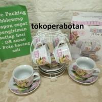 Cangkir Set Keramik dan Rak Homeline Motif Warna