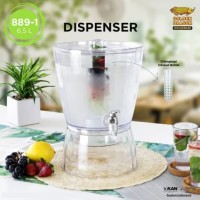 Dispenser +Infused 6,5 Liter / Wadah Minuman Galon Golden Dragon 889-1