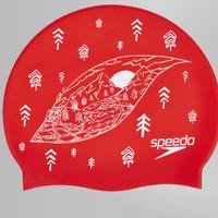 Topi Renang SPEEDO SLOGAN PRINT CAP, Lava Red White. 808385C352