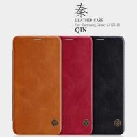Nillkin Qin Leather Case Samsung Galaxy A7 2018 Flip Case