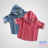Avaro Hoodie Stripe Shirt – Red blue - hoodie anak laki laki