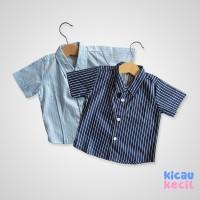 Kenzo Stripe Shirt – Blue Navy - atasan anak laki laki