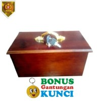 Kotak Amal Kayu Jati Polos