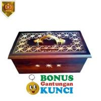 Kotak Amal Kayu Jati Motif