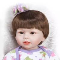 Boneka Reborn Purple Dress / Boneka Mirip Bayi NPK