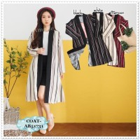 Long Cardigan Kimono Lengan Panjang Wanita Korea Import AB51731 Tunik