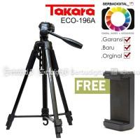 TAKARA ECO-196A Lightweight Tripod With Bag,Holder for Smartphone, cam