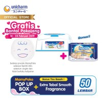 MamyPoko Pop Up Box + FREE Baby Wipes Ekstra Tebal Smooth 50 Perfume