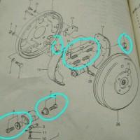 Repair kit set tromol rem tangan hand brake suzuki jimny katana. 1202
