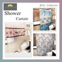 Tirai Kamar Mandi Anti Air Peva - Shower Curtain/Tirai Serbaguna - Flower