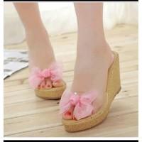 Sepatu / sandal wedges wanita elegant dw23