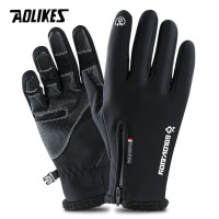 AOLIKES TouchScreen Gloves Winter Windproof Sarung Tangan Musim Dingin - M - HITAM