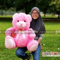 Boneka Teddy Bear Pink Ukuran Jumbo ( HK - 6289147 )