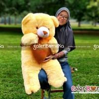 Boneka Teddy Bear Love Cream Ukuran Jumbo ( HK - 6298130 )