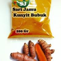 Harga jamu herbal tradisional kunyit bubuk 100 gr asli untuk perlancar   Pembandingharga.com