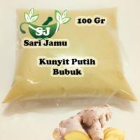 Harga jamu herbal tradisional kunyit putih bubuk 100 gr untuk   Pembandingharga.com