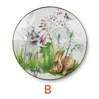 ZEN Piring Spring Meadow Bunny - Hijau diameter 22 cm