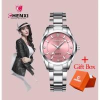 PROMO CHENXI 021b Jam Tangan Quartz Dial Warna Warni