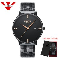 PROMO NIBOSI 2323 New Fashion Simple Watch Slim Mesh Band Mens Watches