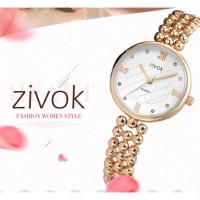 PROMO Zivok 6033L Women's Bracelet Wrist Watch Alloy Beads Strap