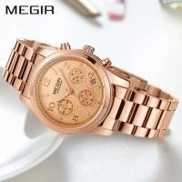 PROMO MEGIR 2057 Jam Tangan Wanita Model Sport Chronograph