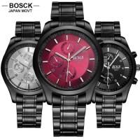 PROMO Bosck 8251 Men Steel Quartz Clock Waterproof Shockproof Watch