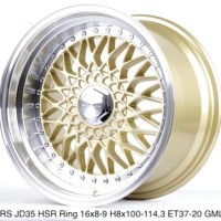 velg mobil RS JD35 HSR R16X8-9 H8X100-114,3 ET37-20 GOLD-ML