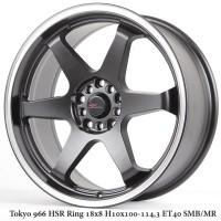 velg mobil Tokyo 966 HSR Ring 18x8 H10x100-1143-ET40 Smb (VIP)
