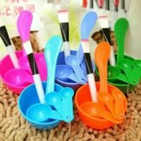 Mangkuk Mangkok Masker Set 4 In 1 / Tempat Masker / Peralatan Masker -