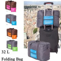 Travel Bag - Carry And Foldable Berkualitas - Biru-Pesawat
