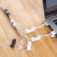 Penjepit Kabel Serbaguna / Clip Klip Kabel Hp Laptop Supaya Rapi -
