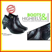 Harga il sepatu boots formal wanita kulit cokelat jak 5313 katalog | Pembandingharga.com