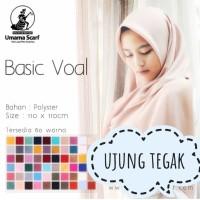Hijab Segi Empat untuk Kerja Sekolah Tegak Di Dahi Poly Cotton Basic