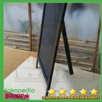blackboard papan tulis stand 50x80cm full black