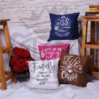 Sarung Bantal Sofa dan Kursi Ukuran 40 x 40 cm Keren Cocok untuk Cafe