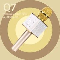 Mic Q7 Mic Karaoke Bluetooth Impor Mic Smule KTV Mic Speaker Wireless