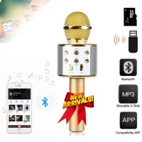 WSTER WS-858 Mic Karaoke Bluetooth Microphone Wireless