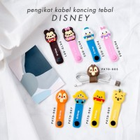 Cord Holder 3D TEBAL/ Klip Kabel/ Pengikat Kabel Charger-DISNEY