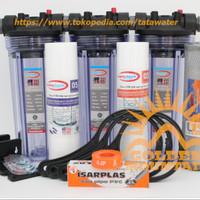 """Paket GM 3 Saringan / Filter Air Siap Pakai (Clear 10""""-3/4""""-SSC)"""