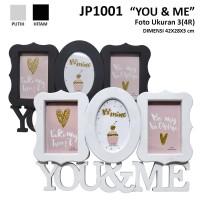 Bingkai Plastik / Frame JP1001-3op You&Me uk. 4R / (3)4x6 op. frame
