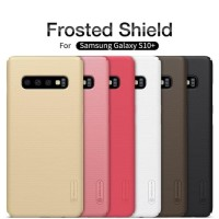 Samsung Galaxy S10 Plus - Hardcase Nilkin Frosted Shield Hitam Only