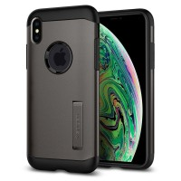 Case iPhone XS Max Spigen Anti Shock with Stand Slim Armor Casing
