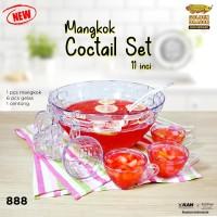 Mangkok Cocktail Set 11 inch + Gelas + Centong Golden Dragon 888