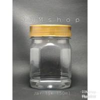 Jar / Toples Plastik Hexagon 150ml