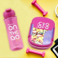 PAKET LUNCH BOX & SPORT BOTTLE ON THE GO FOR WOMAN