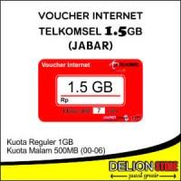 Voucher Data Vocher Kuota Vocer Telkomsel Simpati AS LOOP 1.5GB JABAR