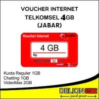 Voucher Data Vocher Kuota Vocer Telkomsel Simpati AS LOOP 4GB JABAR