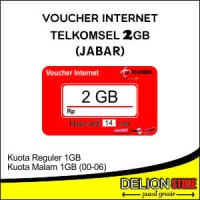 Voucher Data Vocher Kuota Vocer Telkomsel Simpati AS LOOP 2GB JABAR