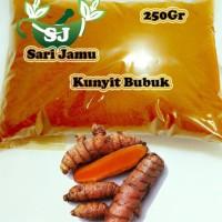 Harga jamu herbal tradisional kunyit bubuk 250 gr asli untuk perlancar   Pembandingharga.com